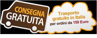 Trasporto gratuito in Italia per ordini superiori ai 150 Euro